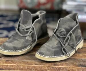 Clarks Originals Desert Boots 8 Men Camouflage Suede Crepe Soles Chukka Ankle 41