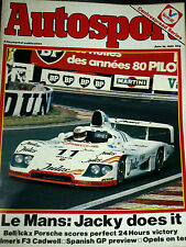 LE MANS 24 HOURS HEURES 1981 PORSCHE 936 JACKY ICKX DEREK BELL JURGEN BARTH