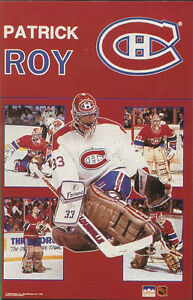 Patrick Roy MONTREAL CANADIENS Collage Original Starline Poster MINI Promo 3x5