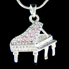 w Swarovski Crystal MUSIC Purple Baby Grand Piano Musical Pendant Charm Necklace