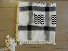 Black Arab Shemagh Head Scarf Neck Wrap Authentic Cottton Palestine LT-WT-IN
