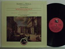 MARIA CALLAS disco LP Manon Lescaut MADE ITALY Teatro alla Scala bicentenario