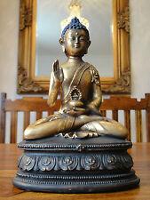 Buddha Statue Skulptur Figur Gold Buddhafigur Edel Deko Buddhismus Indien Asien