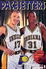 "1997 Indiana Pacers ""Pacesetters"" Original Starline Poster OOP Miller Mullin"