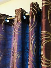 """2 """"Cosma"""" Lined Grommet Top Curtain Panels,63""""Lx50""""w,Amethyst"""