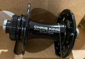 CHRIS KING ROAD HUB R45D, 24H, CENTERLOCK, FRONT, 100X12MM THRU, BLACK, CERAMIC
