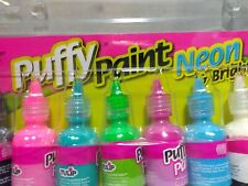 Puffy paint Neon and Bright 12 Pack 1 oz. Bottles Multi Surface Paint Crafts