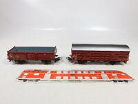 CC533-0,5# 2x Märklin H0/AC Güterwagen/Verschlagwagen 4602/4629 DB sehr gut