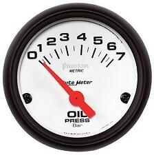 Auto Meter AutoGage 1.5 Liquid Filled Mech 0-60 PSI Fuel Pressure Gauge - White