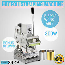 Hot Foil 2 Foil Paper Printing Stamping Machine Code Printer Embossing Bank Card