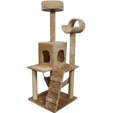"""Goplus 52"""" Cat Kitty Tree Tower Condo Furniture Scratch Post Pet Home Bed Beige"""