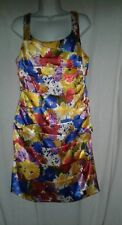 Michele Bohbot Dress Size 14 Bisou Bisou Floral French Party Empire Waist USA