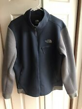 The North Face Blue Soft Shell Jacket Full Zip Thermal Snow Ski L/S Size Large