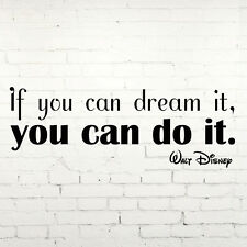 Dream, you can do it WALT DISNEY Childrens Wall Sticker Art Vinyl Transfer