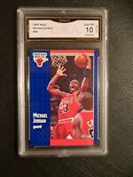 💥 GEM MINT 10 💥 1991 Fleer #29 Michael Jordan Chicago Bulls HOF PSA Caliber