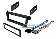 CAR STEREO RADIO KIT DASH INSTALLATION MOUNTING TRIM BEZEL W WIRING HARNESS PLUG