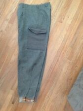 """Vintage WIDENGRENS WWII Military Wool Cargo Pants 29"""" By 31"""" Metal Buttons!!!"""