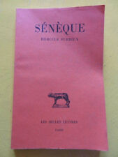 Sénèque Hercule Furieux Editions Les Belles Lettres 1994 Budé latin Antiquité