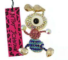 Cute Women Full Crystal Rhinestone Ant  Brooch Pin Betsey Johnson Jewelry