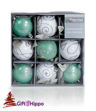 Decorazioni Albero Di Natale 60mm Bianco & Verde Bagattelle 9
