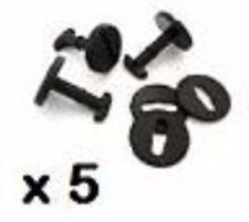 5 x BMW Floor Carpet Mat Clips E36 E46 E38 E39 Series Twist Lock with Washers