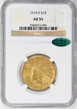 1914-S $10 Indian Gold Eagle, NGC AU 55 & CAC approved