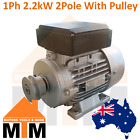 Single Phase Electric Motor 2.2 kW 2800rpm 2 Pole with Pulley SPA A-SECTION