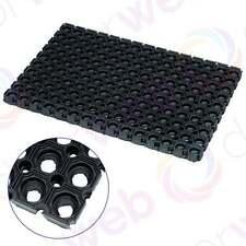 Tappeto in gomma resistente antiscivolo per Esterni Porta D'Ingresso Nero Anello JVL RONDO 40 x 60cm