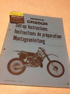 Honda CR250R CR250 R Cr 250 250CR Instrucciones Preparación Instalacion