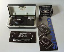Olympus Xa 35mm Rangefinder Film Camera with A11 Flash w/ Manual and Case