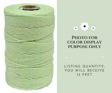 4 Ply Irish Waxed Linen Cord - Mint Green - 15 Feet (5 Yards) #B287