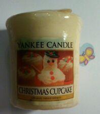 YANKEE CANDLE VOTIVE CHRISTMAS CUPCAKE  RARE AND AWESOME HUNDREDS LISTED