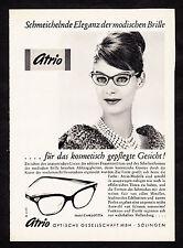 3w02390/ Alte Reklame von 1961 - Modische Brille - ATRIO Optische GmbH - Solinge