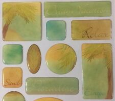 DREAM VACATION Sentiments Epoxy Stickers(20pc)Creative Imaginations •Paradise•••