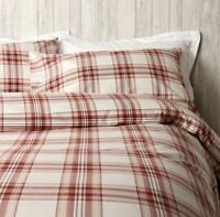 Christy Thurloe Check Red Single Size Duvet Set