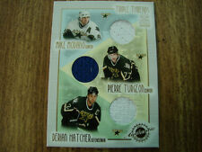 2001-02 Crown Royale Triple Threads # 8 Jersey Card Mike Modano & Turgeon