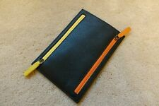 The Savile Row Company Leather Pouch Wallet ID Document Holder Passport Card zip
