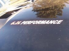 6.2L PERFORMANCE (pair) Hood sticker decals F250 F350 Sierra Raptor Chevy Decal