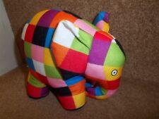 """7"""" Elmer El Elefante Suave Juguete David McKee Libros Rainbow Designs-Excelente!!!"""