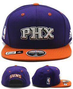 Phoenix Suns Youth Kids Adidas PHX New Purple Orange Era Team Snapback Hat Cap