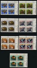 Canada 1155-61 Tr Plate Block Mnh Mammals, Red Fox, Beaver, Skunk, Muskrat