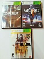 XBOX 360 Shooter Games Bundle of 3 Call of Duty Black Ops Battlefield 3 Spec Ops