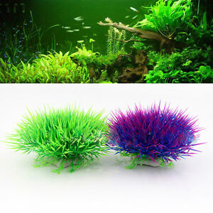 Water Aquatic Green Grass Plant Lawn Aquarium Fish Tank Decor Landscape Home