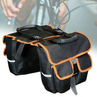 Bike Rear Seat Bag Double Side Rack Tail Saddle Pouch Pannier Bicycle Accessory