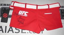 Jhenny Andrade Signed UFC Octagon Girl Shorts PSA/DNA COA Autograph Ring Card XS