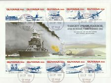 GUYANA 7 DEC 1991 PEARL HARBOUR MINIATURE SHEET O/SIZED FIRST DAY COVER