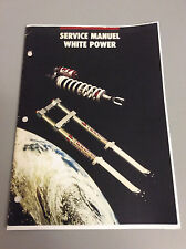 White Power 4054 Forks Service Booklet , mid-late 80's ?