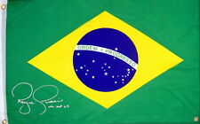 Royce Gracie Ufc Autographed Signed Brazil Flag Asi Proof