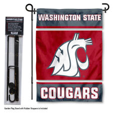 Washington State Cougars Garden Flag and Yard Stand Included