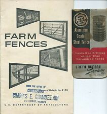 1961 info booklet US Dept Agriculture FARM FENCES Lansing Bureau steel MIchigan